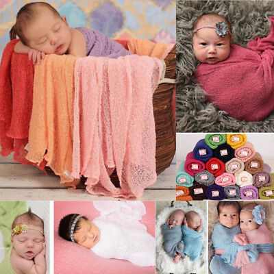 Baby Photography Props Blanket Wraps Stretch Knit Newborn Photo Wraps Hammock