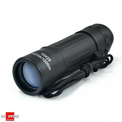 10x25mm Portable Waterproof Compact Monocular Telescope for Camping Hiking