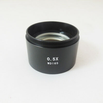 0.5X Stereo Microscope Barlow  Auxiliary Objective Lens 48mm Mounting Thread