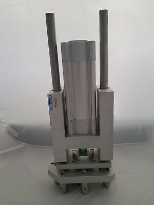 Festo 12 Bar Cylinder DNCB-63-100-PPV-A with FENG-63-160-KF Guide unit