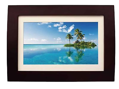 Sylvania SDPF1089 10-Inch LED Multimedia Wood Finished Digital Photo Frame wi...