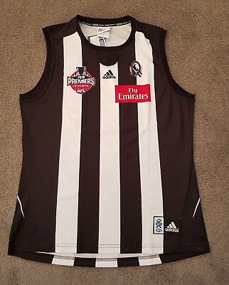 New 2010 Collingwood Magpies Premiership Premiers Football Afl Jumper - Large