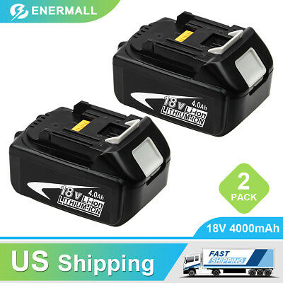 2-Replace for Makita 18V Lithium Battery Lxt 4.0Ah BL1840 BL1830 BL1850 BL1860