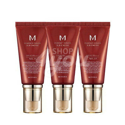Missha M Perfect Cover BB Cream 50ml SPF42 PA+++ 4 Type +Free Sample