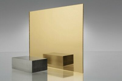 Acrylic Gold Mirror Sheet 3mm Thickness Aus Stock Laserable Sign Grade FREE SHIP