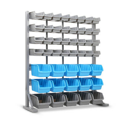 47 Bin Storage Shelving Rack Workshop Garage Warehouse Tools Parts Organiser@SAV