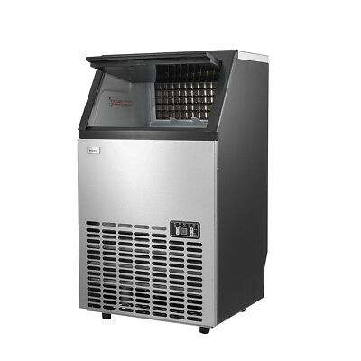 55kg/24hr Stainless Steel Commercial Ice Maker Ice Machine Icemaker Ice Making
