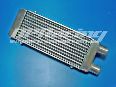 450 x 180 x 65mm SAME SIDE FRONT MOUNT TURBO ALUMINUM INTERCOOLER IN/OUTLET 2.5""