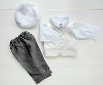 Baby Boy Outfit Smart Suit Long Sleeve Bodyshirt Bow Hat Christening Summer