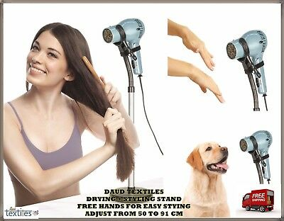 Drying & Styling Hair Dryer Stand For Pet Dog Cat Grooming Drying Hands Free