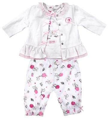Girls Baby Ballerina Elephant Jacket Top & Trousers Outfit Newborn to 12 Months