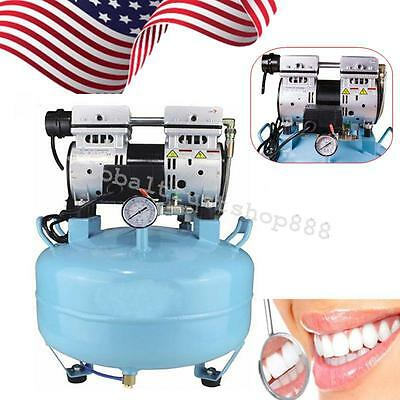 Lab Dental Noiseless Oil Free Oilless Air Compressor 30L 550W 130L/min From USA