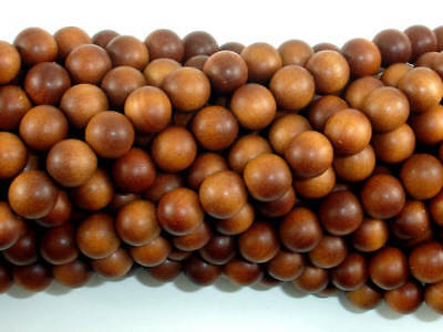 Sandalwood Beads, 8mm(8.2mm) Round Beads, 35 Inch, Approx 108 Beads, (011747001)