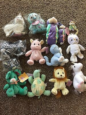 Precious Moments Enesco Tender Tails Lot Of Plush Stuffed Animals