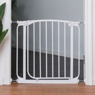 Walk Through Baby Child Pet Metal Easy Locking Safety Gate Door For Stair Room