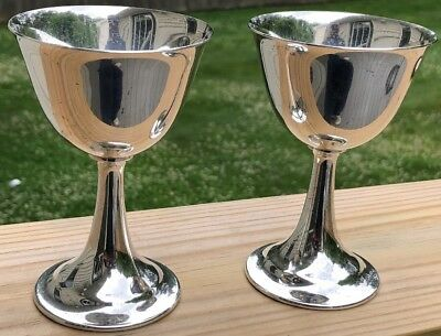 "Vtg Pr Lord Saybrook International Sterling Silver Cups Goblets 4 3/4""T"