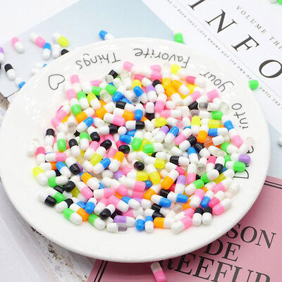 10PCS Crystal Pill Clay Rubber Mud Intelligent Hand Gum Plasticine Slime Toys