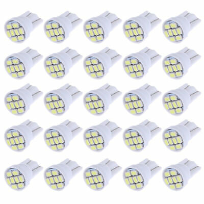 10x T10 8-SMD White LED Interior Instrument License Light W5W 194 168 2825 158
