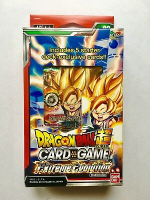DRAGON BALL SUPER CARD GAME DBS STARTER DECK the extreme evolution SEALED SD02