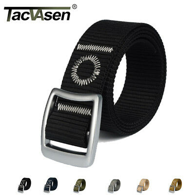 TACVASEN Metal Mens Belts Tactical Military Army Solider Belt Nylon Belts Strap