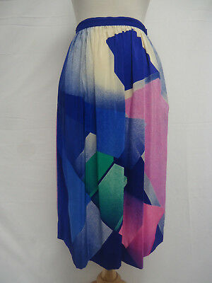 VINTAGE UMI by Anne Crimmins Late 70s 80s 3pc Skirt Top Scarf Set HONG KONG SILK