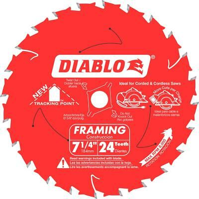 Freud Diablo Framing Saw Blade 7-1/4in x 24T NEW Tracking Point BEST PRICE!!!