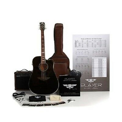 Keith Urban 50-piece Deluxe PLAYER Acoustic-Electric Guitar Package Rich Black