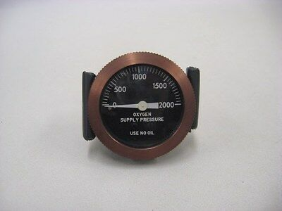 Aircraft Oxygen Supply Pressure Gauge from a Piper Navajo
