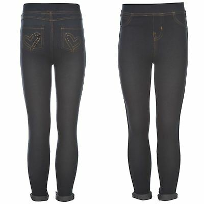Glitzy Bambini Denim Jeggings Pantaloni da jogging
