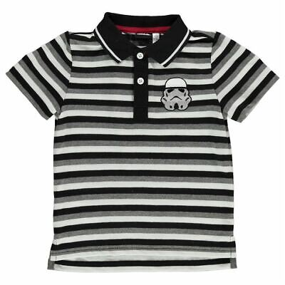 Character Kids Boys Polo Shirt Infant Classic Fit Tee Top Short Sleeve