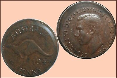 Penny 1944Y. Off-Centre  .... VF
