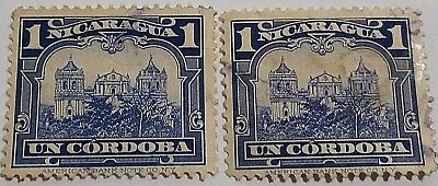 Nicaragua   Used Stamp   Scu1A23.. ..worldwide Stamps