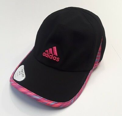 dca3b87ebf3 NEW adidas Women s Climacool Adizero II Cap Hat Black Multi Color PINK C118