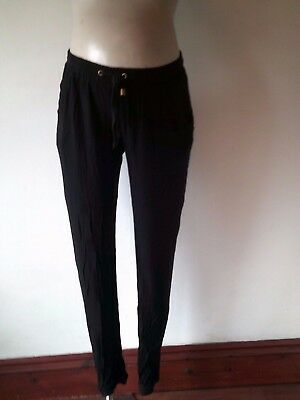 New Look Maternity Black Under Bump Loose Leggings Casual Trousers Size 10