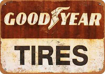 "7"" x 10"" Metal Sign - Goodyear Tires - Vintage Look Repro"