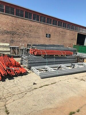 """Used Teardrop Uprights 42"""" x 16' high, Chicago"""