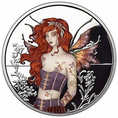 Amy Brown Collection - Wallflower Fairy 1 oz .999 Silver Colorized Proof Round