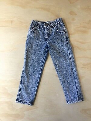 VTG 80s 90s Levi's High Waisted Acid Wash Toddler Denim Jeans Size 4 RARE