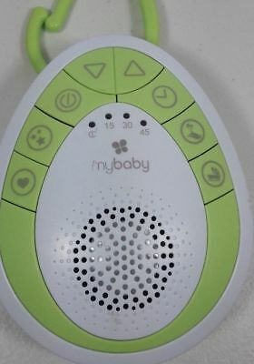 myBaby SoundSpa On-The-Go Sound Machine Green Small Lulls Baby to Sleep