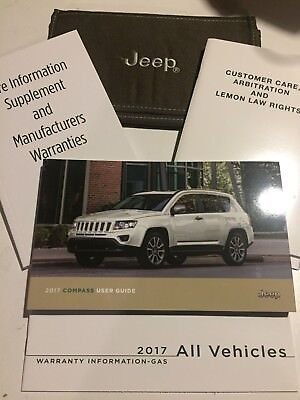 2017 jeep compass owners manual set with case 17 99 picclick rh picclick com jeep compass user manual 2017 jeep compass 2013 user manual