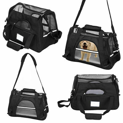 Pet Carrier Soft Sided Small Cat/Dog Comfort Travel Bag Oxford Airline Approved