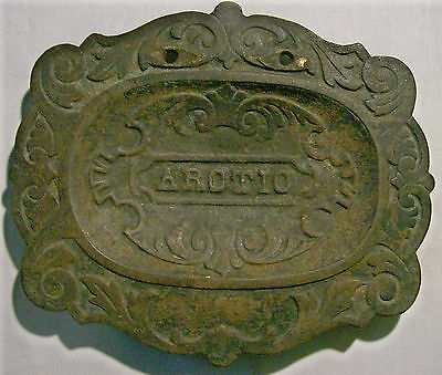"""""""Arctic"""" Advertising Cast Iron Tray Early 1900s Grey Iron Casting Co. Fireplace"""