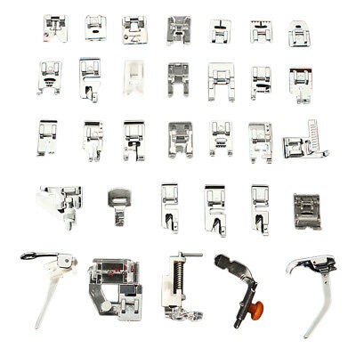 1 set (32pcs) Domestic Sewing Machine Foot Feet Snap On For Brother Singer Set