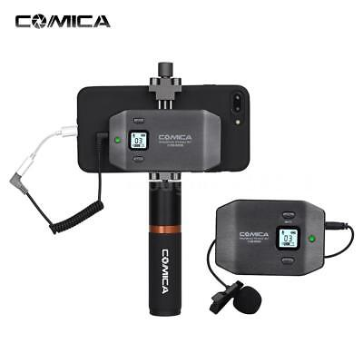 COMICA CVM-WS50(B) 6-Channel UHF Wireless Smartphone Lavalier Video Microphone