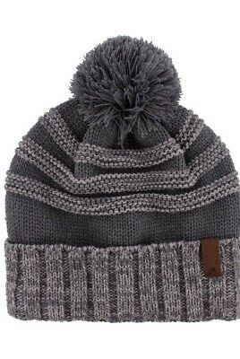 888bc1f777bce NEW MEN S ADIDAS Pine Knot Climawarm Pom Cuffed Knit Beanie in Gray ...