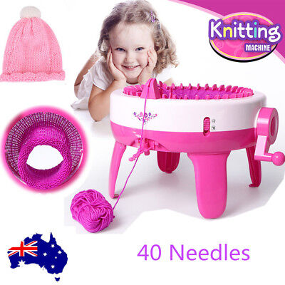 Children Knitting Machine DIY Handmade Scarves Knit Scarf Machine 40 Needles AU