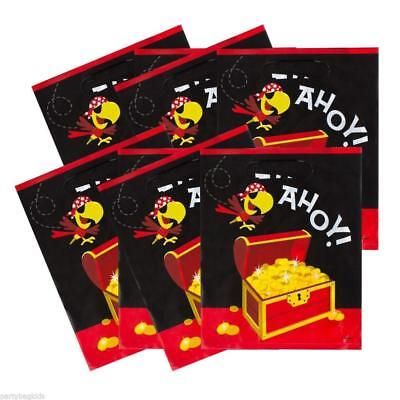 8 Super Cool Yo Ho Ahoy Pirate Party Loot Bags/Boys Pirate Party Supplies0