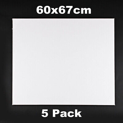 5 x Professional Premium Blank Artist Stretched Canvas For Acrylic Paint 50x60cm