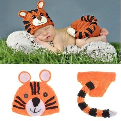 Crocheted Baby Tiger Outfit