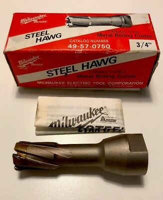 "Milwaukee 3/4"" Steel Hawg Metal Boring Cutter 49-57-0750 Carbide-Tipped"